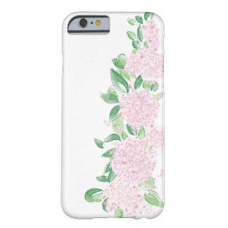Capa Barely There Para iPhone 6 O Hydrangea floresce a caixa cor-de-rosa floral