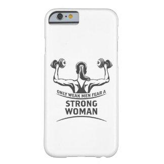 Capa Barely There Para iPhone 6 O iPhone forte & Samsung da mulher encaixotam