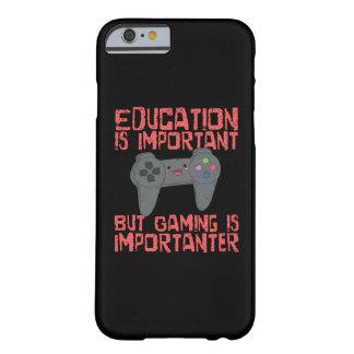 Capa Barely There Para iPhone 6 O jogo é Importanter do que a educação - Gamer