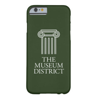 Capa Barely There Para iPhone 6 O logotipo do distrito do museu