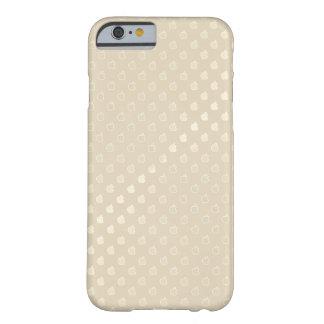 Capa Barely There Para iPhone 6 O ouro Louis Vuitton bege denomina o caso