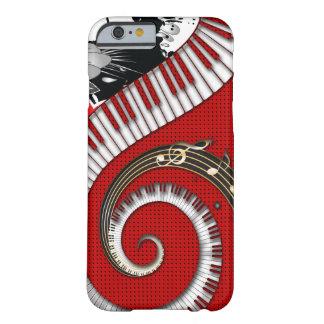 Capa Barely There Para iPhone 6 O piano fecha redemoinhos florais do Grunge das