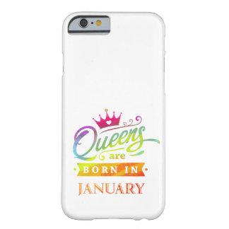 Capa Barely There Para iPhone 6 O Queens é em janeiro presente de aniversário