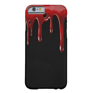 Capa Barely There Para iPhone 6 O sangue de Falln goteja o preto