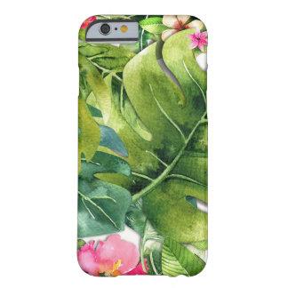 Capa Barely There Para iPhone 6 O verde elegante dos trópicos deixa a aguarela