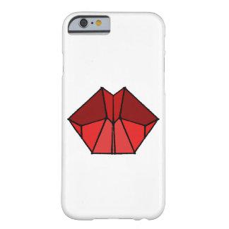 Capa Barely There Para iPhone 6 O vermelho cúbico dos lábios protege o cobrir da