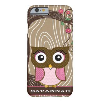 Capa Barely There Para iPhone 6 O ziguezague de madeira da árvore da grão da