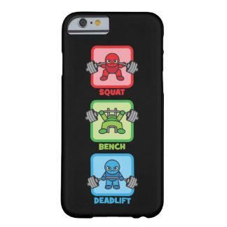 Capa Barely There Para iPhone 6 Ocupa, imprensa de banco, Deadlift - Kawaii