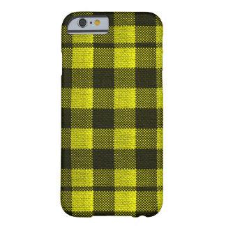 Capa Barely There Para iPhone 6 Olhar Checkered de serapilheira do teste padrão do
