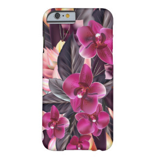 Capa Barely There Para iPhone 6 Orquídeas. Design tropical com flores bonitas