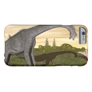 Capa Barely There Para iPhone 6 Os dinossauros 3D do Brachiosaurus e do