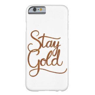 Capa Barely There Para iPhone 6 Ouro da estada - caixa do telemóvel