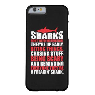 Capa Barely There Para iPhone 6 Palavras inspiradores - seja um tubarão