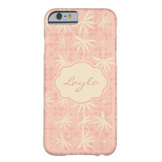 Capa Barely There Para iPhone 6 Palmas cor-de-rosa