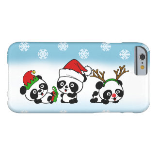 Capa Barely There Para iPhone 6 Pandas do Natal