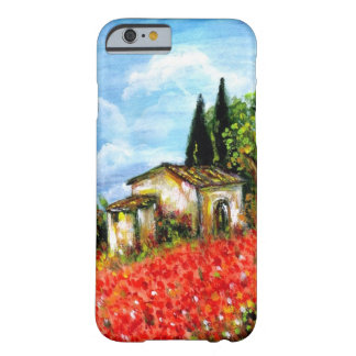 Capa Barely There Para iPhone 6 PAPOILAS EM TOSCÂNIA/paisagem com campos de flor