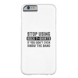 Capa Barely There Para iPhone 6 Pare de usar t-shirt da rocha