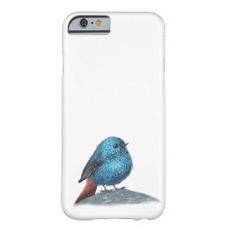 Capa Barely There Para iPhone 6 Pássaro azul pequeno