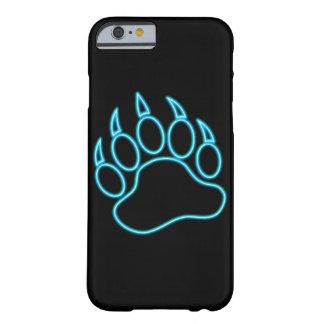 Capa Barely There Para iPhone 6 Pata de urso azul de néon