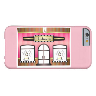 Capa Barely There Para iPhone 6 Patisserie francês cor-de-rosa de Paris