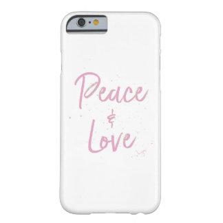 Capa Barely There Para iPhone 6 Paz-e-Amor-Cor-de-rosa