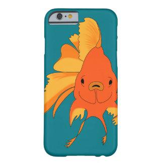 Capa Barely There Para iPhone 6 Peixe dourado ilustrado brilhante