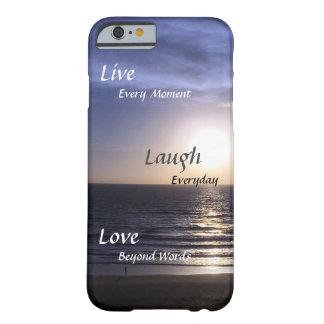 Capa Barely There Para iPhone 6 Pensamentos da praia