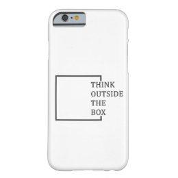 """Capa Barely There Para iPhone 6 """"Pense fora cobrir do iPhone 6/6S da caixa"""""""