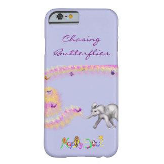Capa Barely There Para iPhone 6 Perseguindo borboletas pelos Feliz Juul Empresa
