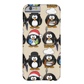 Capa Barely There Para iPhone 6 Personalize o exemplo bonito dos pinguins para