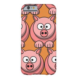 Capa Barely There Para iPhone 6 Personalize o porco bonito para miúdos