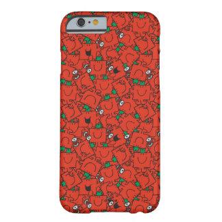 Capa Barely There Para iPhone 6 Pesos de levantamento do Sr. Forte | vermelhos &