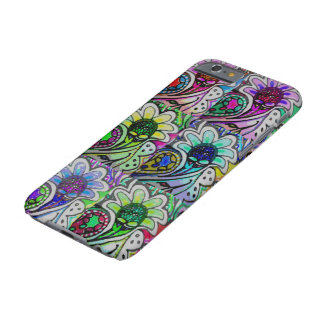 Capa Barely There Para iPhone 6 Pétalas de Paisley do pop