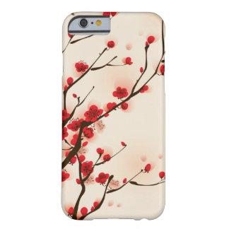 Capa Barely There Para iPhone 6 Pintura asiática do estilo, flor da ameixa no