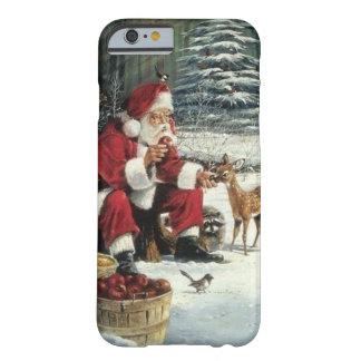 Capa Barely There Para iPhone 6 Pintura de Papai Noel - arte do Natal