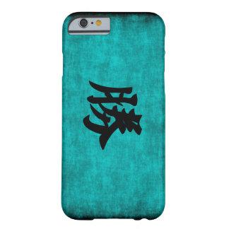 Capa Barely There Para iPhone 6 Pintura do caráter chinês para o sucesso no azul