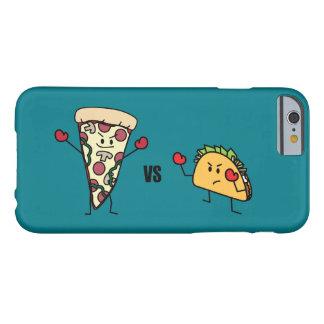 Capa Barely There Para iPhone 6 Pizza de Pepperoni CONTRA o Taco: Mexicano contra