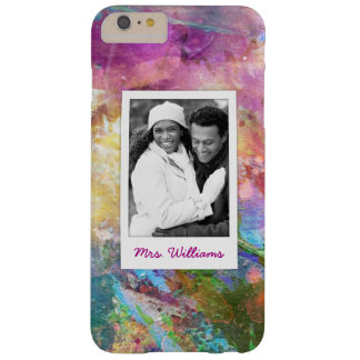 Capa Barely There Para iPhone 6 Plus A textura abstrata | da aguarela do Grunge
