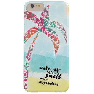 Capa Barely There Para iPhone 6 Plus acorde e cheire a inspiração, a praia e a palma