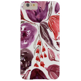 Capa Barely There Para iPhone 6 Plus Aguarela caso floral roxo/rosa do iPhone 6/6sPlus