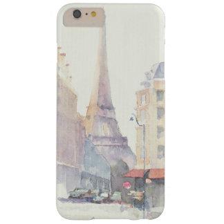 Capa Barely There Para iPhone 6 Plus Aguarela da torre Eiffel | Paris