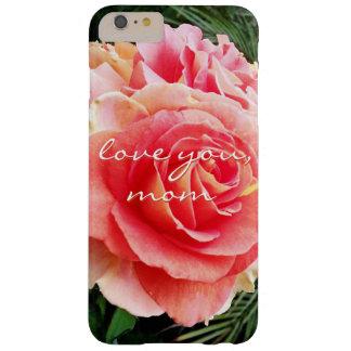 """Capa Barely There Para iPhone 6 Plus """"Ame-o foto do Fim-acima do rosa do rosa das"""
