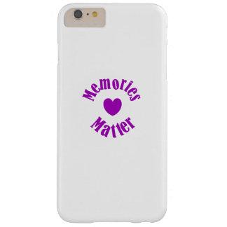 Capa Barely There Para iPhone 6 Plus Amor roxo das memórias da fita da consciência de