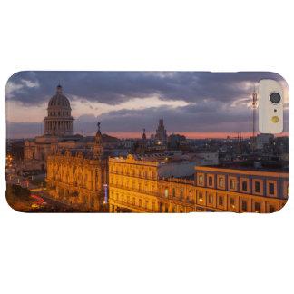 Capa Barely There Para iPhone 6 Plus Arquitectura da cidade no por do sol, Havana, Cuba