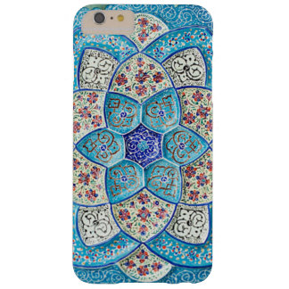Capa Barely There Para iPhone 6 Plus Azul de turquesa marroquino tradicional, branco,