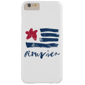 Capa Barely There Para iPhone 6 Plus Bandeira americana Paintstrokes