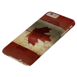 Capa Barely There Para iPhone 6 Plus Bandeira de Canadá/Grunge…