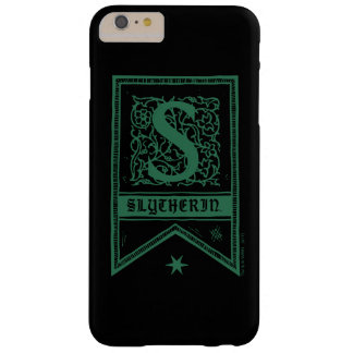Capa Barely There Para iPhone 6 Plus Bandeira do monograma de Harry Potter | Slytherin