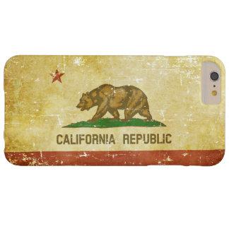 Capa Barely There Para iPhone 6 Plus Bandeira patriótica de papel gasta do estado de
