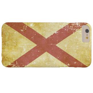 Capa Barely There Para iPhone 6 Plus Bandeira patriótica gasta do estado de Alabama